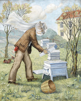 Artist Marjorie Hayes: The Bee Keeper, 1947
