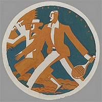 Artist Eric Fraser: Tennis and Golf, circa 1922