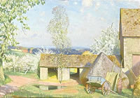 Artist Gerald Gardiner: Spring in the Cotswolds, 1945