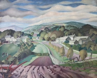Artist Harry Epworth Allen: A Derbyshire Landscape, circa 1950