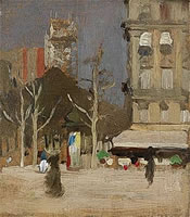 Artist Sir Gerald Festus Kelly: The Tour St. Jacques, Paris, circa 1901
