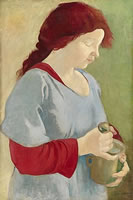 Artist Clara Kinghoffer: Rose, with mortar and pestle, 1919