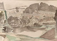 Artist John Nash: The River at Bures, Suffolk, m