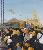 Artist Charles Pears: At Middleburg:The Kermis, August, 1913