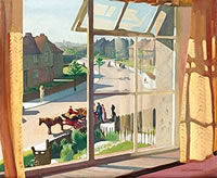 Artist Percy Shakespeare: View from the artists bedroom